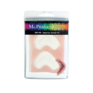 MEL Products Encapsulated Silicone Prosthetic ESP 104 Open Cut Curved 1.5""