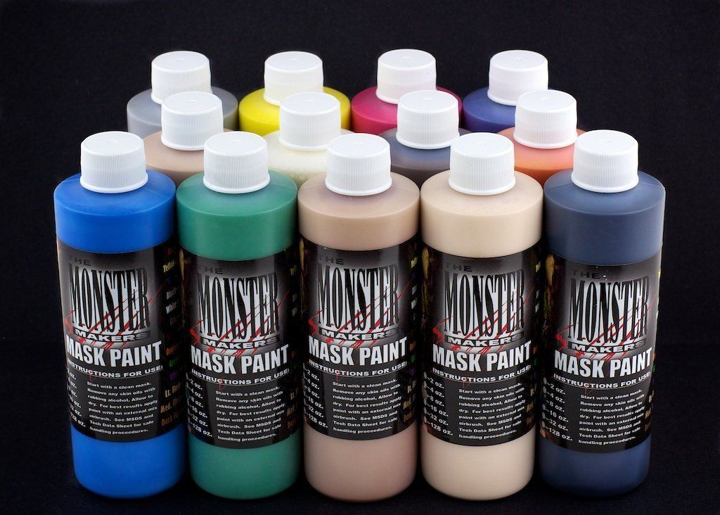 Monster Makers Latex Mask Paint - 13 Color Kit - AFA Supplies
