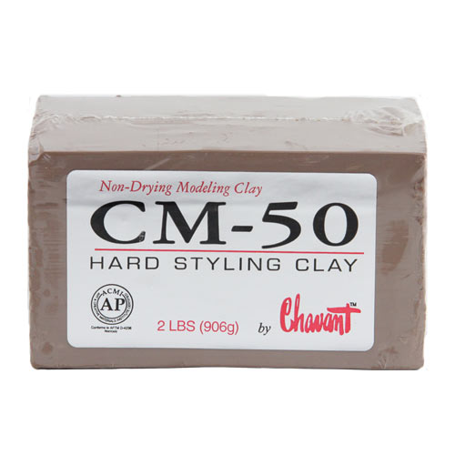 Chavant CM-50 Hard Industrial Styling Clay 10 lb 1/4 Case