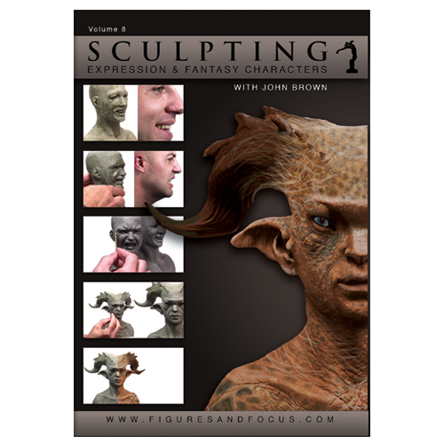 "John Brown Sculpture Kit with ""Sculpting Expression and Fantasy Characters: Part 1"" DVD Tutorial-138"