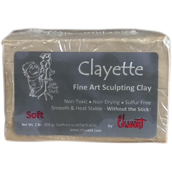 Chavant Clayette tan soft modeling clay