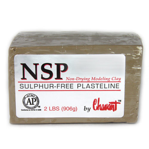 Chavant NSP (Non Sulphurated Plasteline) Tan Medium Clay