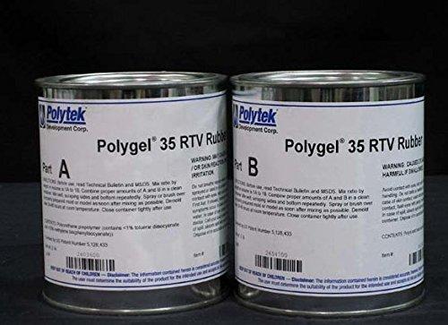 Polytek Polygel 35 Brush-On Rubber (4 lbs)-0
