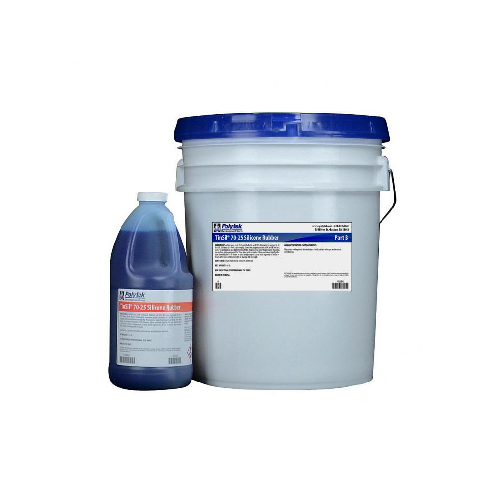 Polytek TinsSil 70-25 Tin-Cure Silicone Rubber 44lb