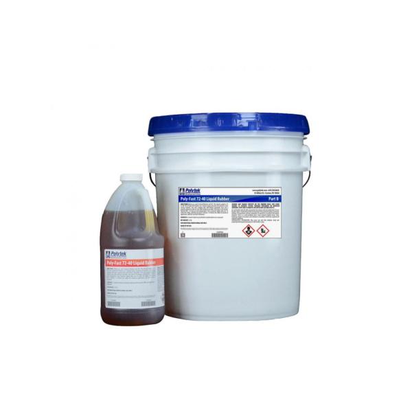 Polytek Poly-Fast 72-40 LIquid Polyurethane Rubber 49lb