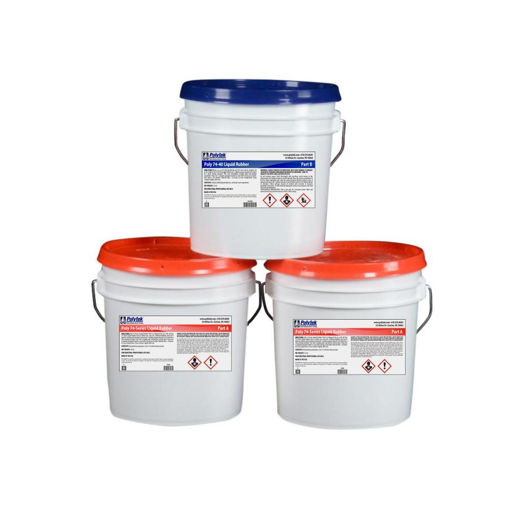 Polytek Poly 74-40 Liquid Polyurethane Rubber 24lb