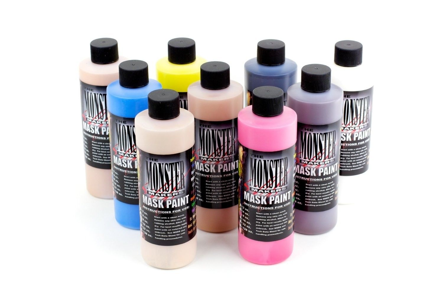 Monster Makers Latex Mask Paint - 9 Color Kit - AFA Supplies