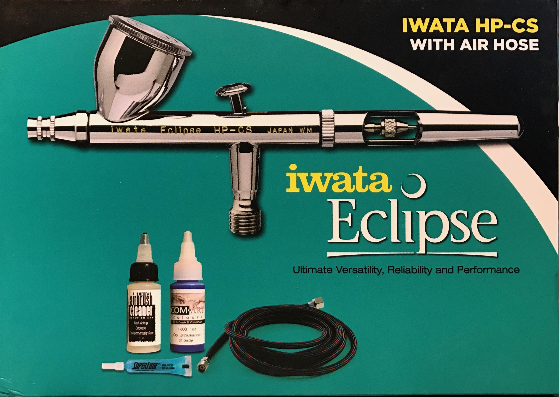 Iwata HP-CS w//Air Hose Eclipse ECL-4501 Gravity Feed Dual Action Airbrush Kit