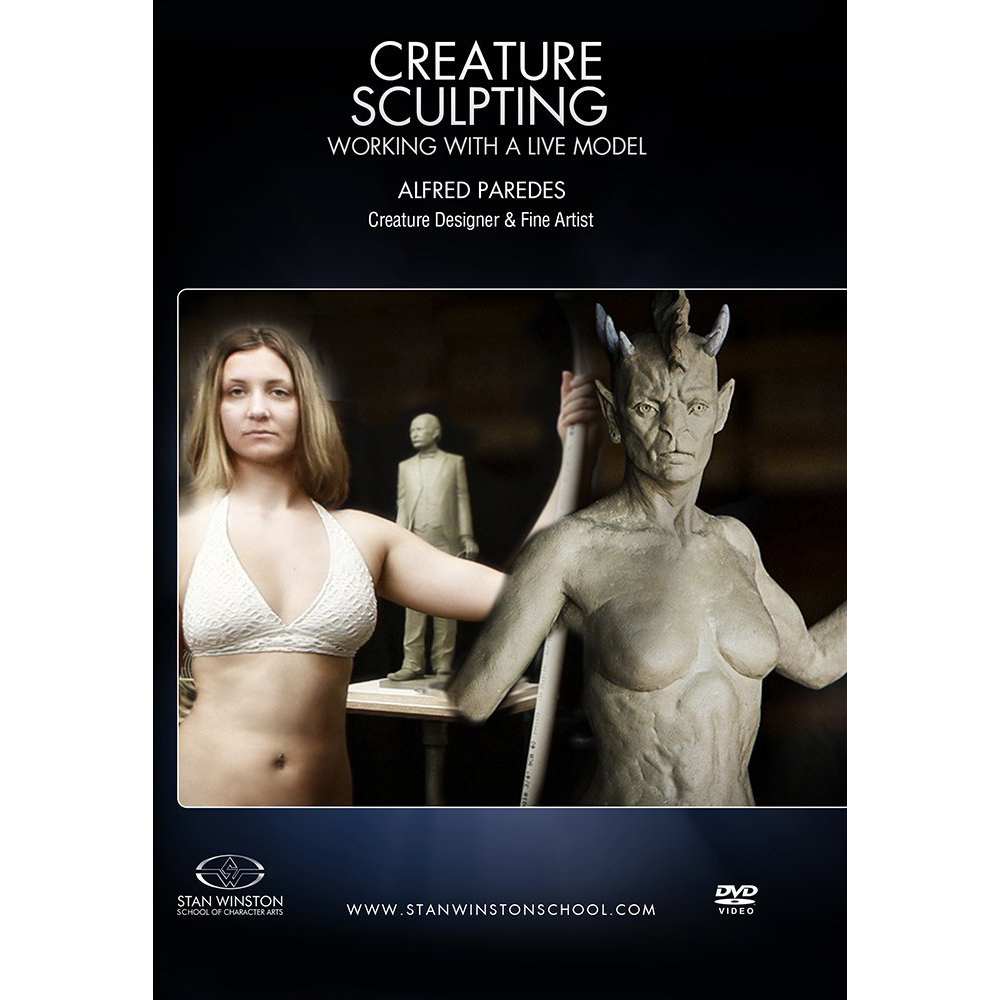 Stan Winston School DVD – Figure Sculpture for Characters – Sculpting with a Live Model – Alfred Paredes