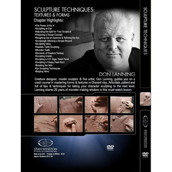 Stan Winston School DVD – Sculpture Techniques – Textures and Forms – Don Lanning