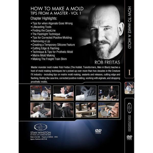 Stan Winston School DVD – How to Make a Mold – Mold Making Tips – Rob Freitas
