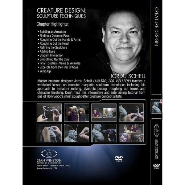 Stan Winston School DVD – Character Design - How to Sculpt Character Maquettes - Jordu Schell