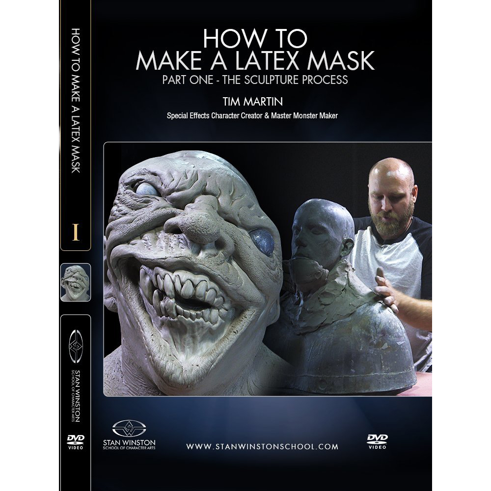 Stan Winston School DVD – How to Make a Latex Rubber Mask Part 1 – The Sculpture Process – Timothy Martin