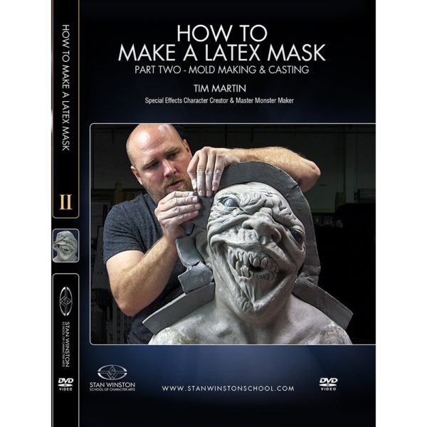 Stan Winston School DVD – How to Make a Latex Rubber Mask Part 2 – Moldmaking and Casting – Timothy Martin