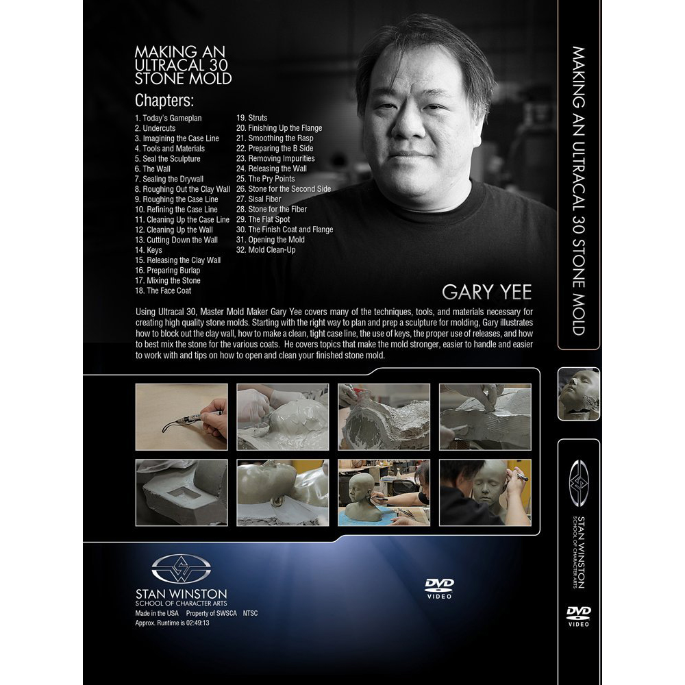 Stan Winston School DVD – How to Make a Stone Mold – Gary Yee