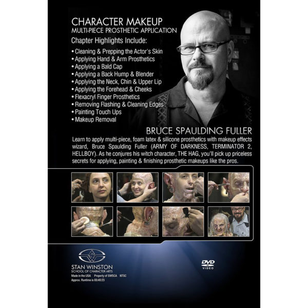 Stan Winston School DVD – Character Makeup – Multi Piece Prosthetic Application – Bruce Spaulding Fuller