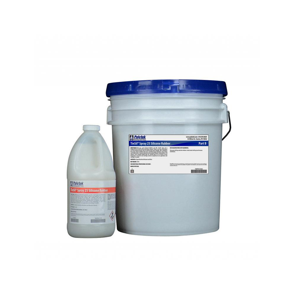 Polytek TinSil Spray 25 Tin-Cure Silicone Rubber 44lb