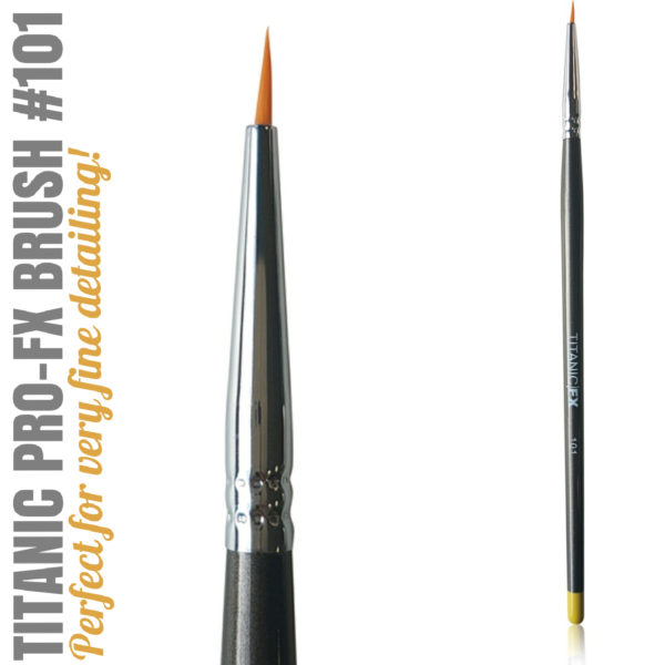 Titanic Pro-FX Brush 101 Small Liner Brush