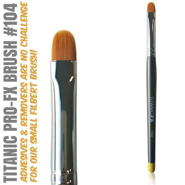 Titanic Pro-FX Brush 104 Small Filbert Brush
