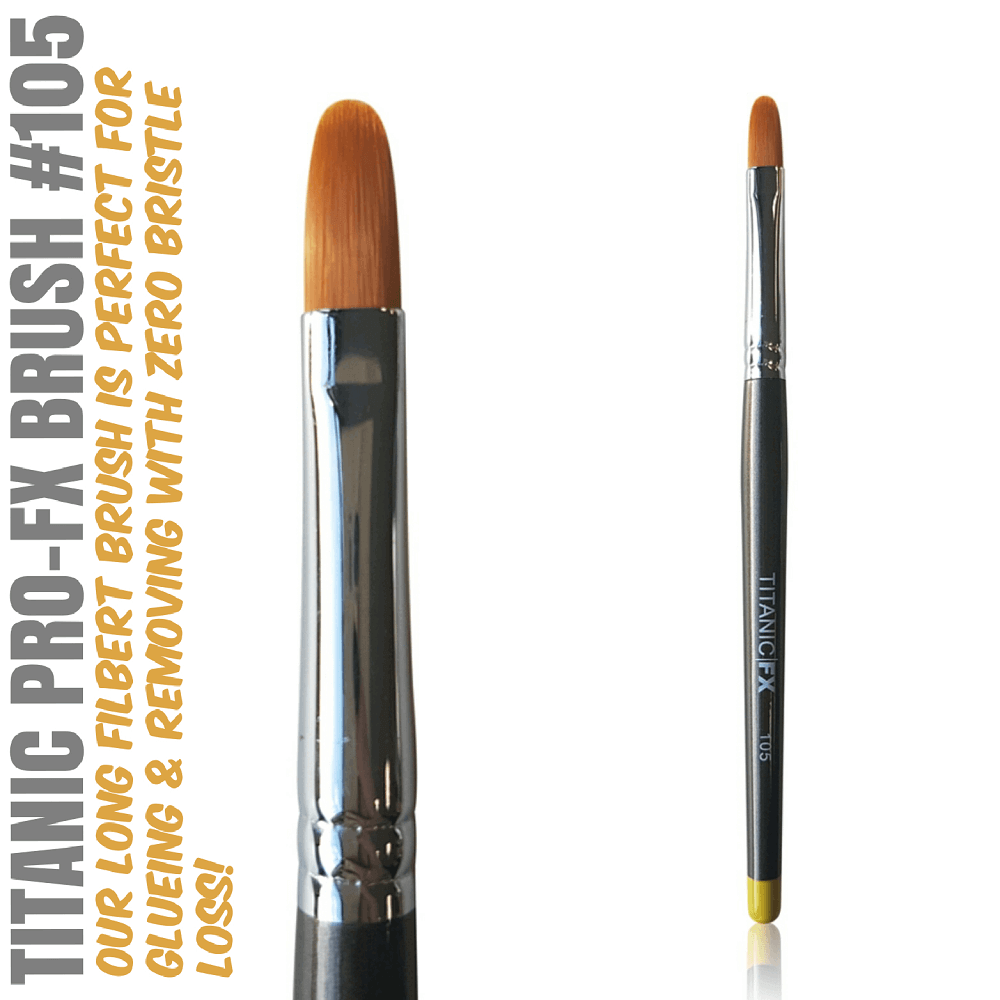 Titanic Pro-FX Brush 105 Long Filbert Brush