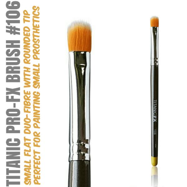 Titanic Pro-FX Brush 106 Small Flat Duo Fiber Stipple Brush
