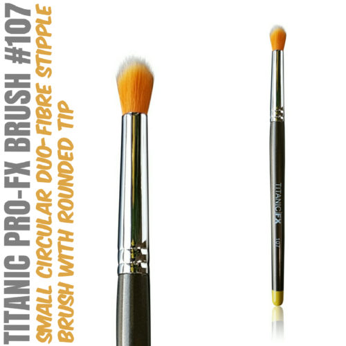 Titanic Pro-FX Brush 107 - Small Round Duo Fiber Stipple Brush